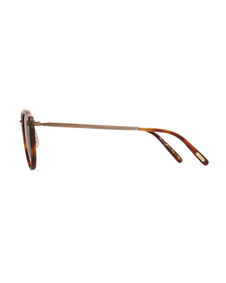 Men's Two-Tone Round Photochromic Sunglasses