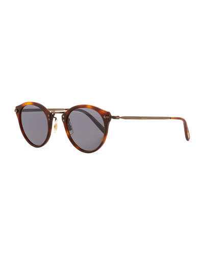 Men's Two-Tone Round Photochromic Sunglasses