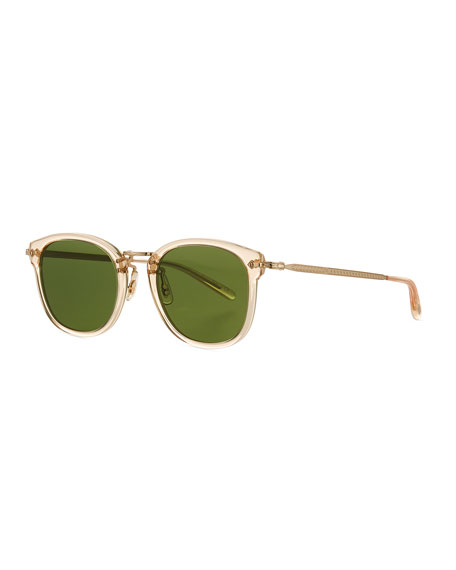 Men's OP-506 Acetate/Metal Sunglasses, Champagne