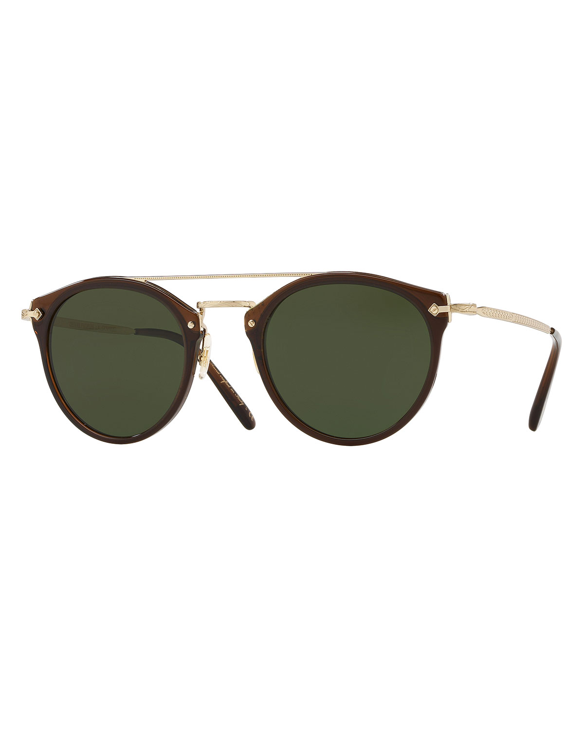 b466d19b372 Oliver Peoples Men s Row Remick Round Metal Acetate Sunglasses ...
