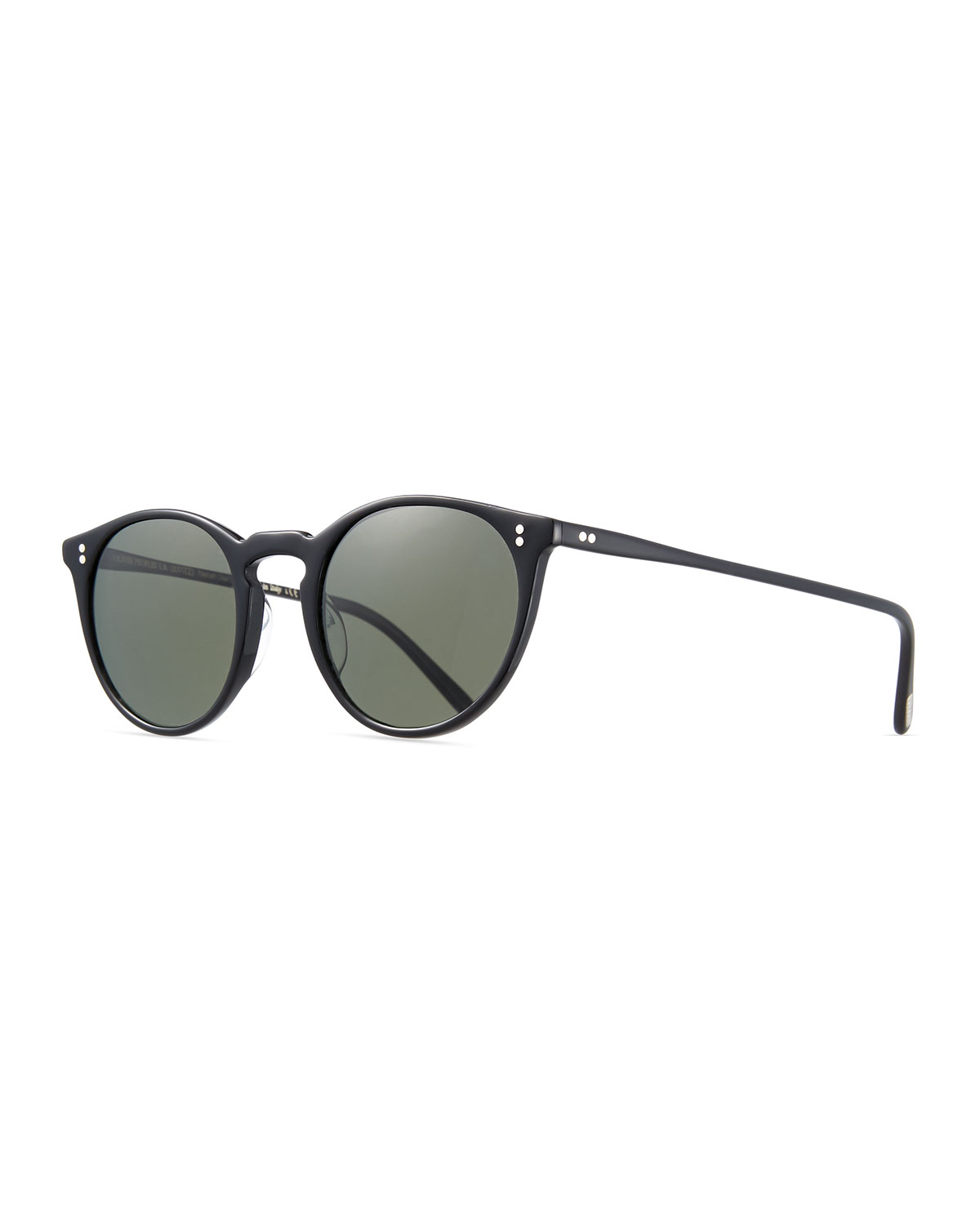 d74ffc1eb4 Oliver Peoples Men s O Malley NYC Peaked Round Sunglasses