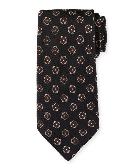 Ermenegildo Zegna Fancy Box Silk Tie
