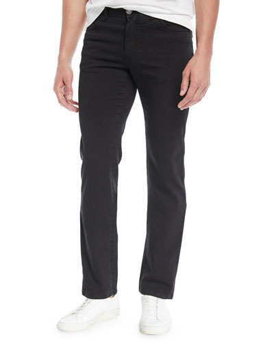 Men's Straight-Leg Denim Jeans, Black