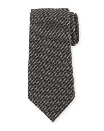 Micro-Stripe Silk Tie
