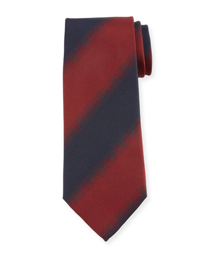 Shadow Striped Silk Tie, Red