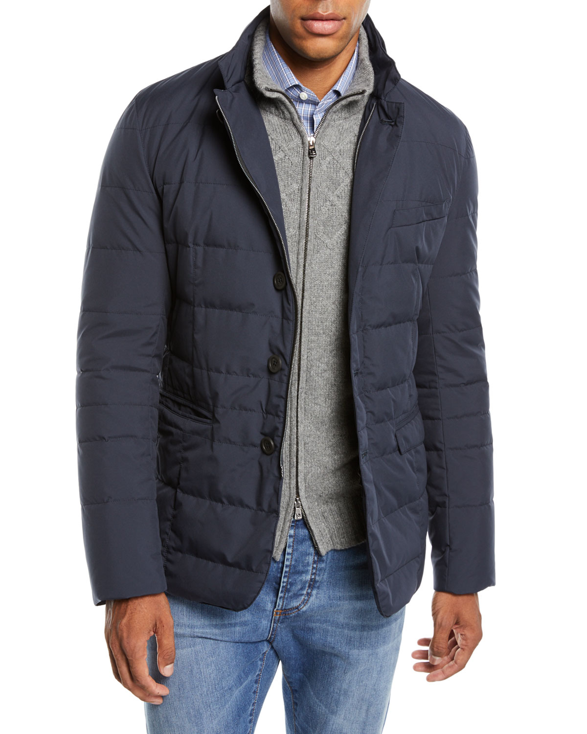 4211e6aba7b Herno Men s Quilted Gore-Tex® Blazer
