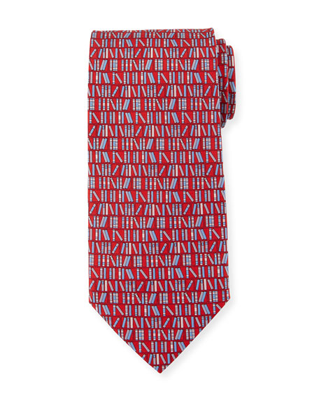 Books Silk Tie