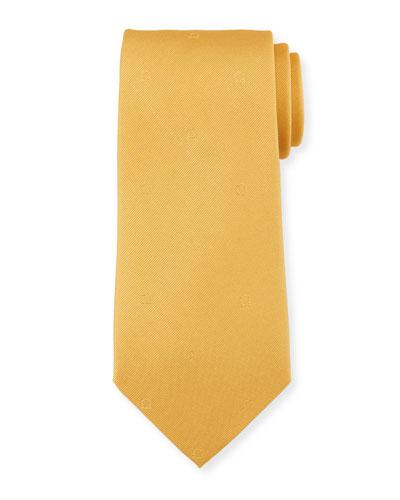Eston Solid Silk Tie, Yellow