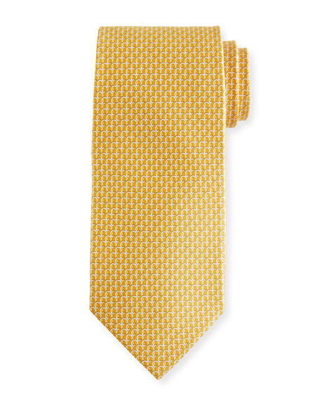 Filo 3D Gancio Silk Tie, Yellow