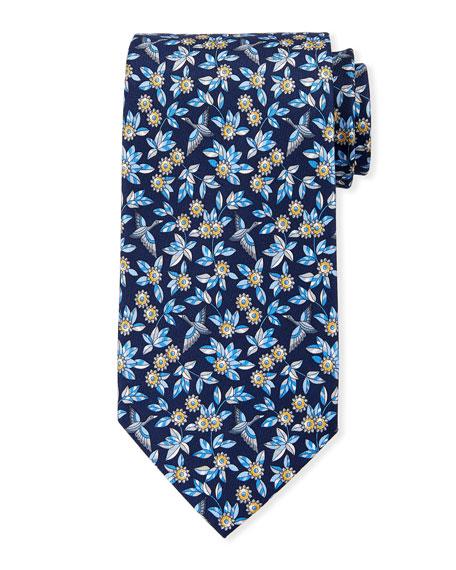 Salvatore Ferragamo Floral Pattern Silk Tie
