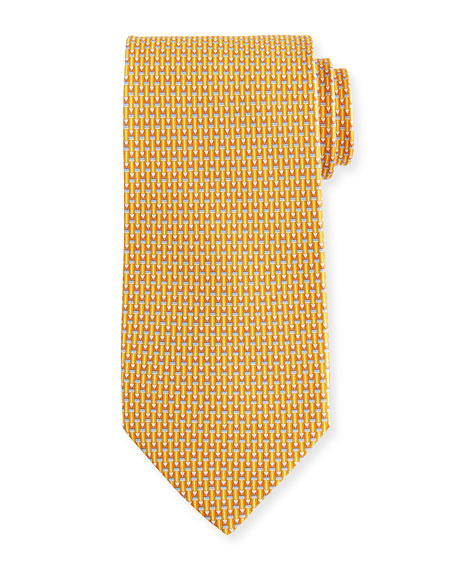 Salvatore Ferragamo Fina Graphic Silk Tie