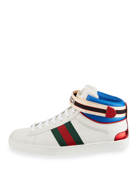 Men's New Ace Ankle-Strap High-Top Sneaker