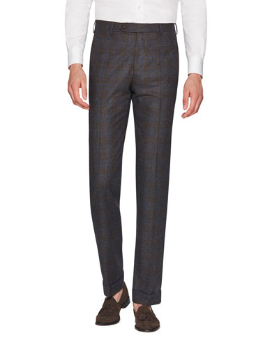 Men's Parker Dream Tweed Flat-Front Trousers