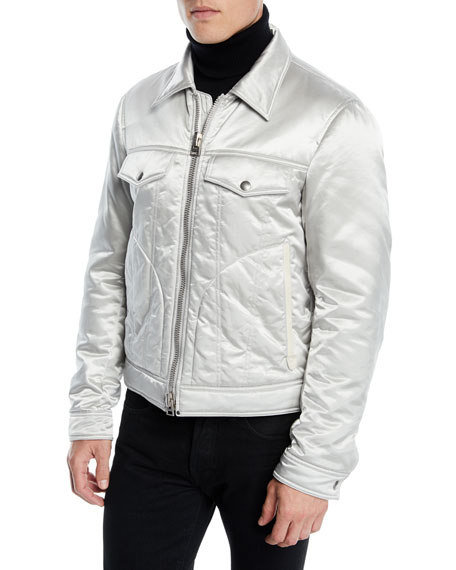 TOM FORD Men's Quilted Satin Western Jacket