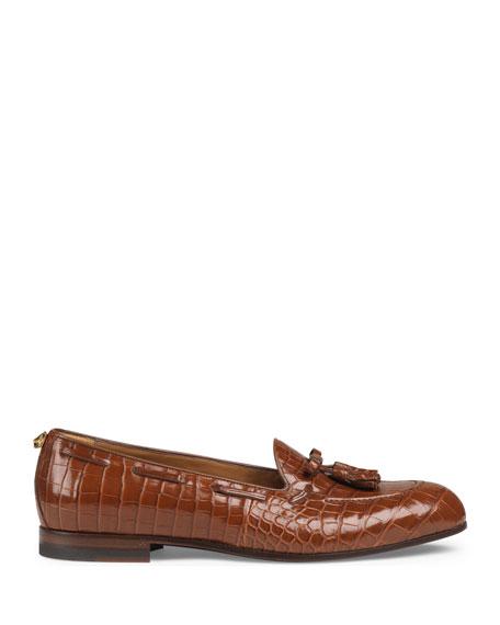 Men's Loomis Crocodile Slip-On Tassel Loafer