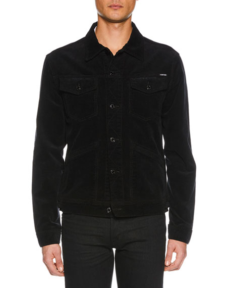 TOM FORD Men's Icon Corduroy Jean Jacket
