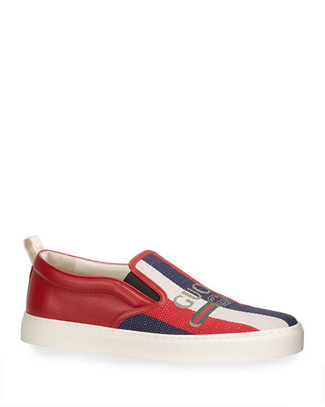 Men's Sylvie Web Canvas Slip-On Sneaker