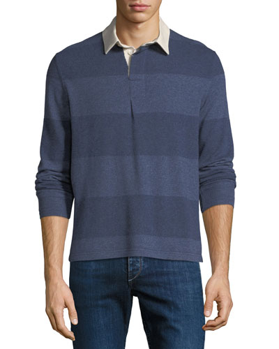 Men's Rugby Striped Cashmere Sweater