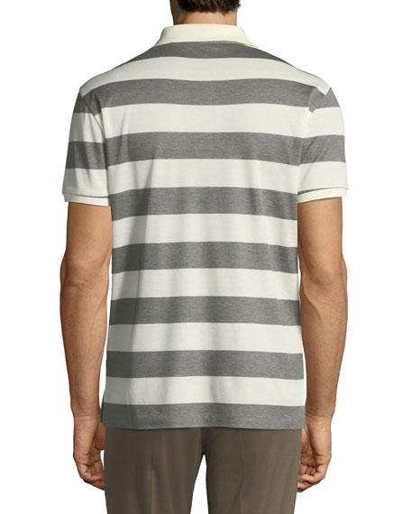 Striped Short-Sleeve Polo Shirt