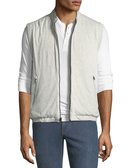 Men's Reversible Zip-Front Quilted Vest