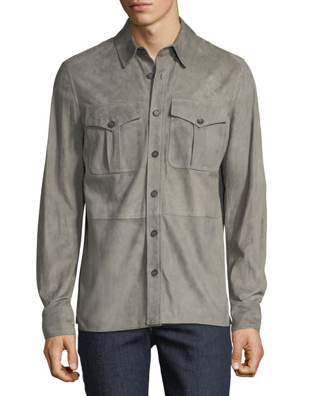 Men's Barron Suede Utility Jacket