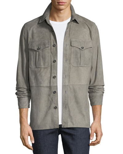 Men's Barron Suede Utility Jacket
