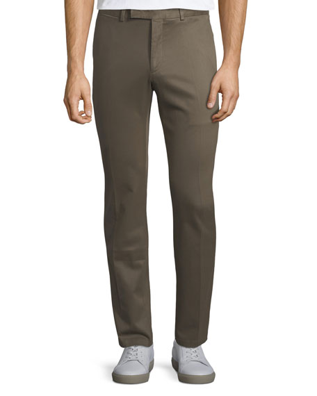 Men's Stretch-Twill Straight-Leg Trousers