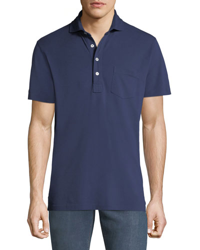 Men\u0027s 5-Button Polo Shirt with Pocket