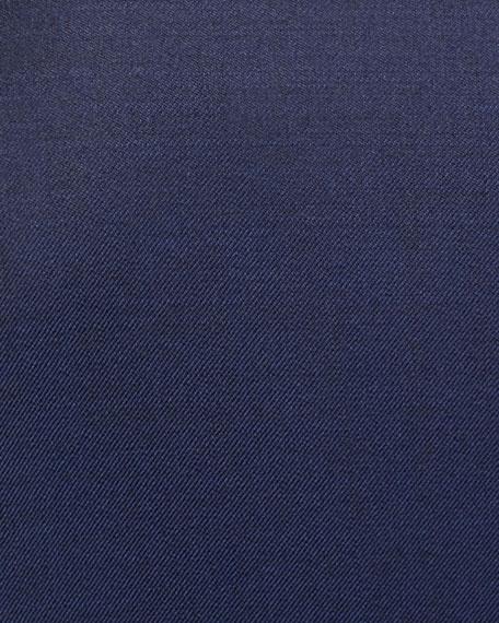Men's Wool Basic Two-Piece Suit, Blue