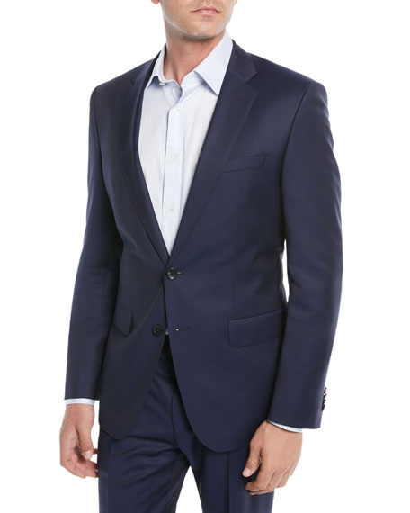 BOSS Men's Wool Basic Two-Piece Suit, Blue