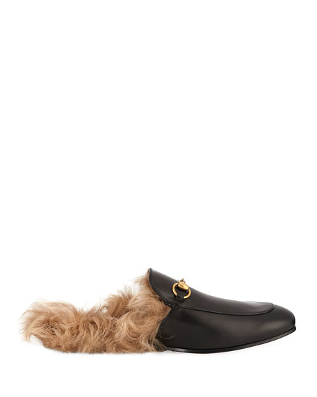 Men's Princetown Fur-Lined Calf Leather Mule Slipper