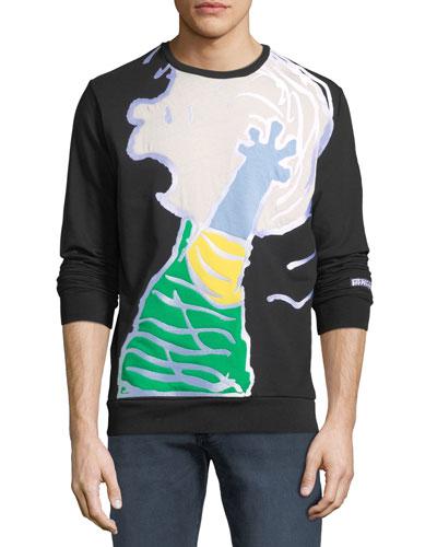 Men's Peanuts Linus Graphic-Appliqué Sweatshirt