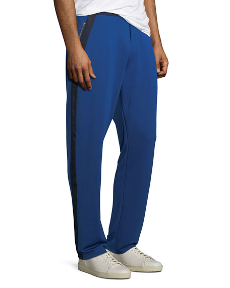 Men's Side-Stripe Logo Track Pants