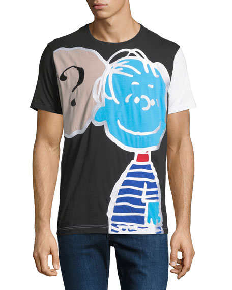 Iceberg Men's Peanuts Linus Thought-Cloud Graphic T-Shirt
