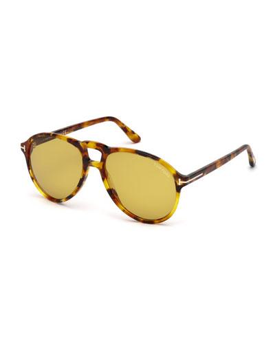Men's Lennon 02 Round Acetate Sunglasses