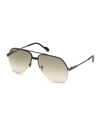 Men's Wilder 02 Aviator Metal Sunglasses