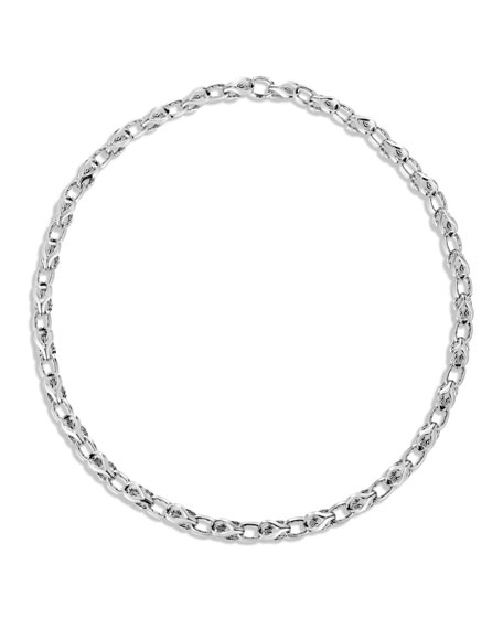 John Hardy Men's Classic Chain Silver Link Necklace,