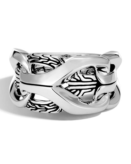 Men's 17mm Classic Chain Silver Ring