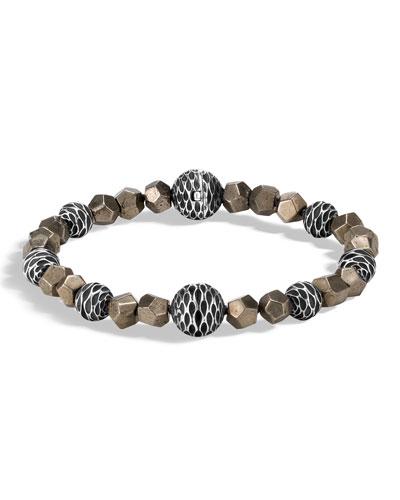 Men's Legends Naga Pyrite Bead Bracelet