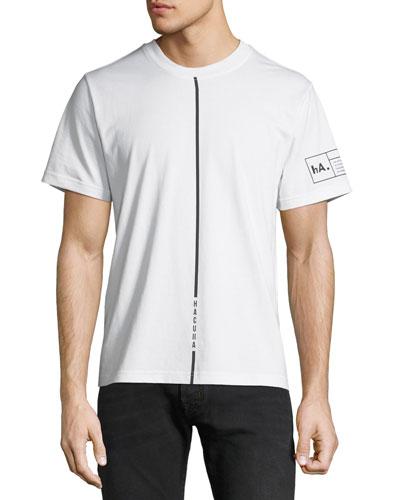 Men's Contrast-Stripe Cotton T-Shirt