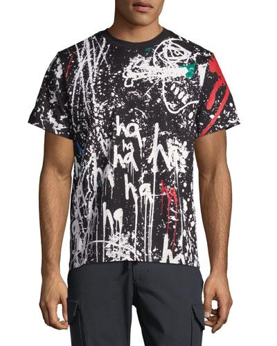 Men's Canvas Paint Back-Zip T-Shirt