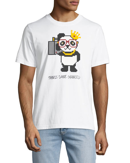 Men's Things Done Changed Panda Graphic T-Shirt