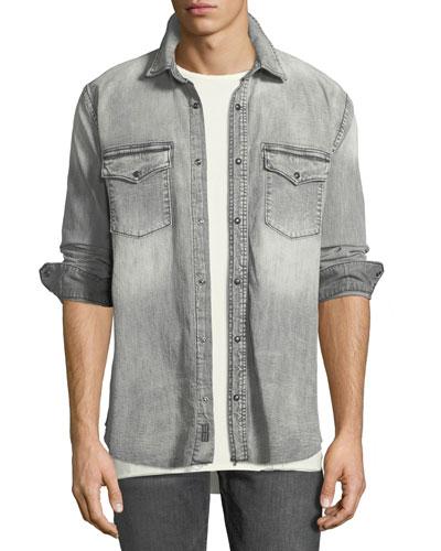 Men's Long-Sleeve Denim Shirt