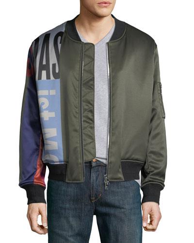 Men's Logo-Collection Bomber Jacket