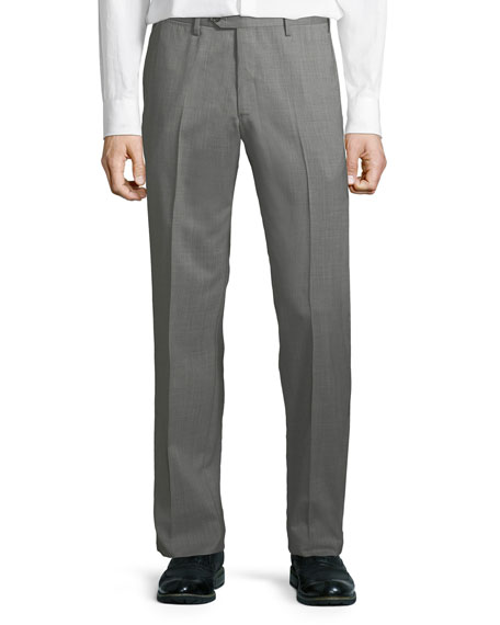 Giorgio Armani Men's Melange Wool Dress Pants