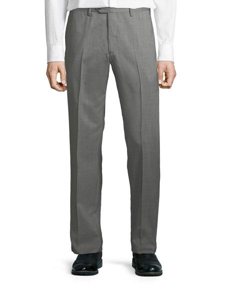 Men's Melange Wool Dress Pants