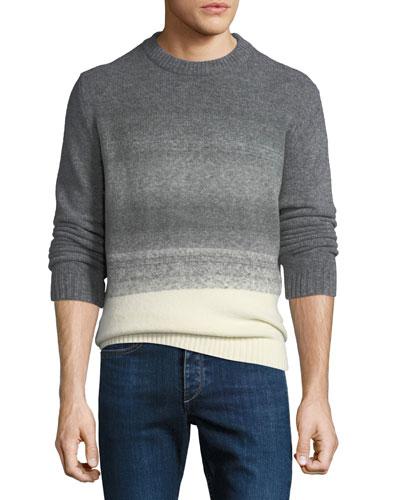 Men's Ombre-Knit Crewneck Sweater