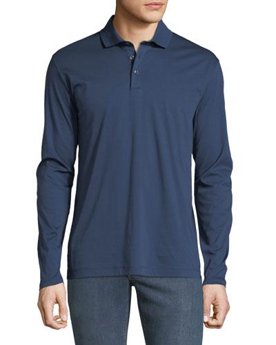 Men's Jersey Long-Sleeve Polo Shirt