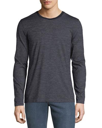 Men's Heathered Long-Sleeve T-Shirt