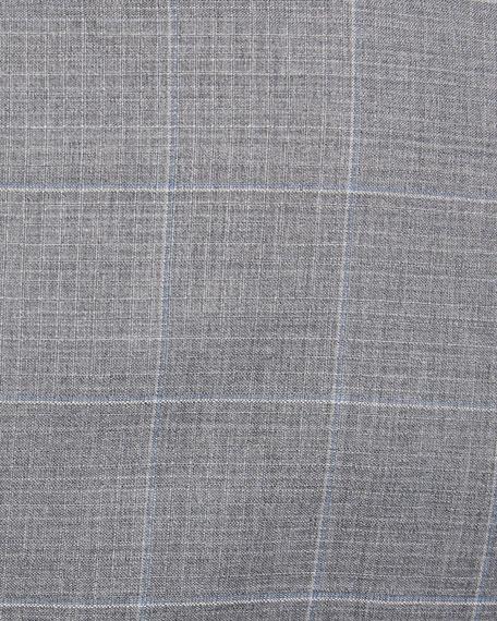 Men's Two-Tone Windowpane Wool Two-Piece Suit